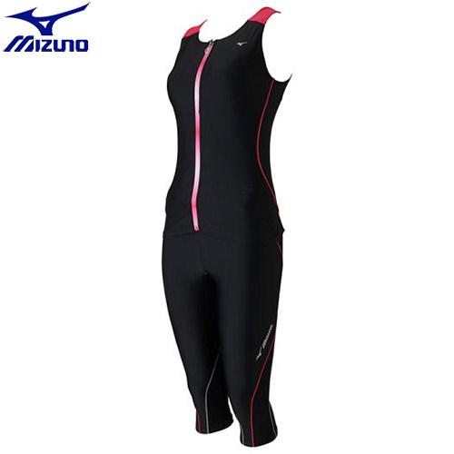 フィットネス水着 ミズノ MIZUNO BGアクア セパレーツ[レディース](97)ブラック×ピンク N2JG730097 セパレーツタイプ