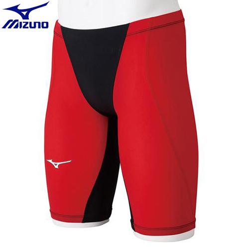 競泳水着 ミズノ MIZUNO MX-SONIC G3 ハーフスパッツ[メンズ](96)ブラック×レッド N2MB851196 MX