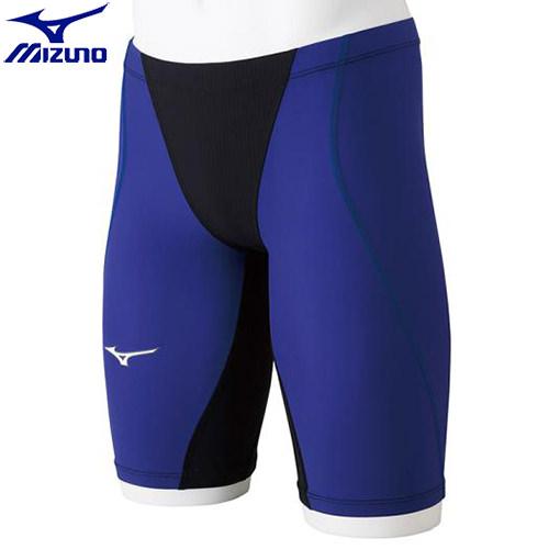 競泳水着 ミズノ MIZUNO MX-SONIC G3 ハーフスパッツ[ジュニア](92)ブラック×ブルー N2MB891192 MX