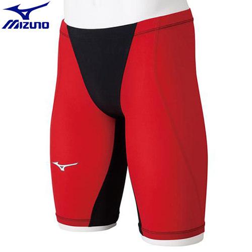 競泳水着 ミズノ MIZUNO MX-SONIC G3 ハーフスパッツ[ジュニア](96)ブラック×レッド N2MB891196 MX