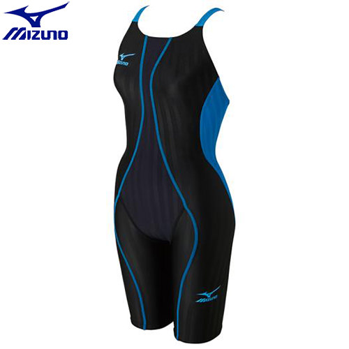 競泳水着 ミズノ MIZUNO FX-SONIC ハーフスーツ[ジュニア](91)ブラック×ターコイズ N2MG743091 FX