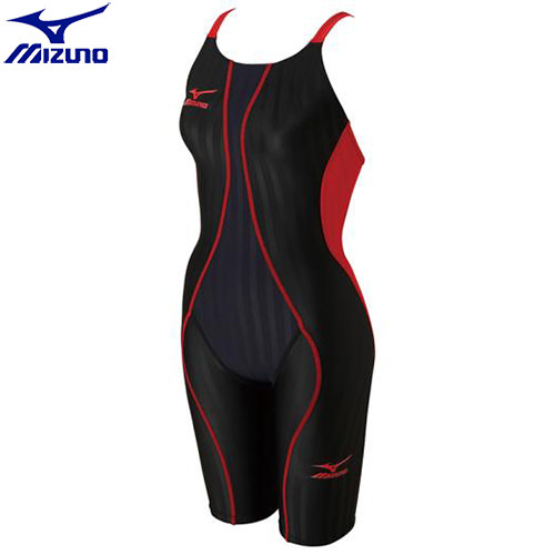 競泳水着 ミズノ MIZUNO FX-SONIC ハーフスーツ[ジュニア](96)ブラック×レッド N2MG743096 FX