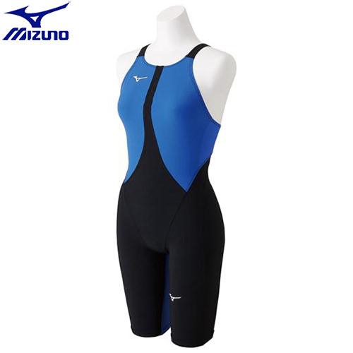 競泳水着 ミズノ MIZUNO MX-SONIC02 ハーフスーツ[レディース](50)ブラック×ブルー N2MG821150 MX