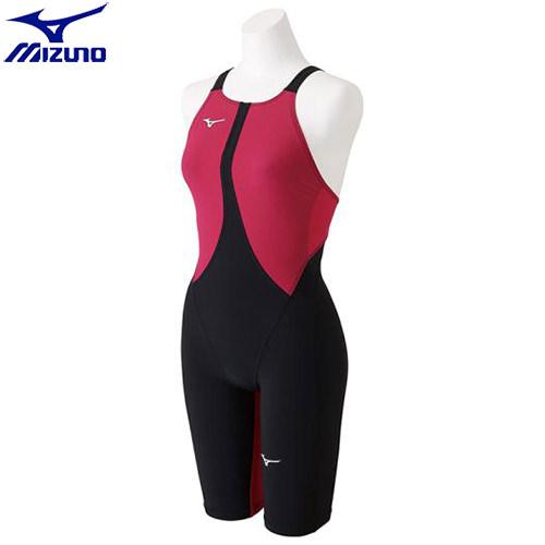 競泳水着 ミズノ MIZUNO MX-SONIC02 ハーフスーツ[レディース](57)ブラック×ローズ N2MG821157 MX