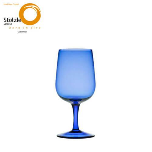 シュトルッツル チポラ 12oz ゴブレット ブルー×6脚セット ゴブレットグラス Stolzle グラス