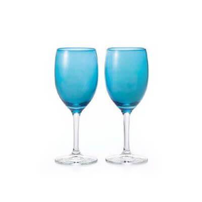 石塚硝子 アデリア カラーステム カラーワインペアセット(BL 36セット)品番:S-6085 【ワイングラス】 ワイングラス セット 食器 洋食器 ガラス食器 アデリア