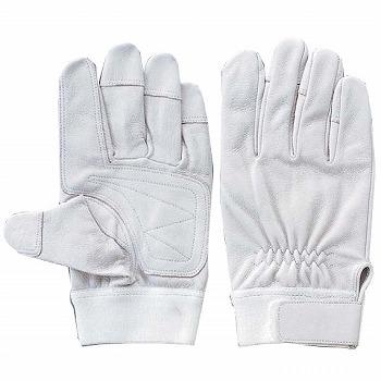 豚革手袋おたふく手袋二重アテツキマジック[200双]E-3総革製