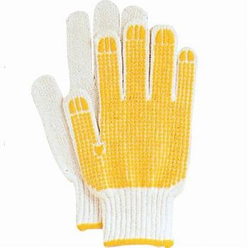 【滑り止め軍手】スベリ止手袋(軍手) 5双入×80セット[総数400双] 品番:SP-166 おたふく手袋 (作業用手袋) 7ゲージ(厚手) 混紡軍手 すべり止め 柔らかい 吸湿性 乾きやすい しわになりにくい お手ごろ価格