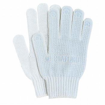 滑り止め軍手(ビニボツ)おたふく手袋ビニブレス[12双入]220化学繊維厚手