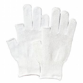 【滑り止め軍手】2本指出し手袋(スベリ止付) [400双入] 品番:475 (M・Lサイズ) おたふく手袋 (作業用手袋) 10ゲージ(薄手) 純綿軍手 すべり止め 丈夫 吸汗性 ハイキング 肌にやさしい
