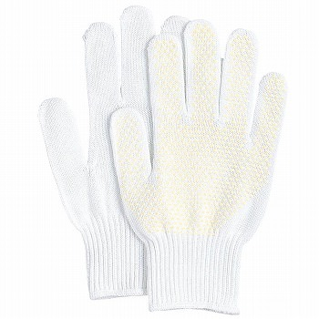 滑り止め軍手(ビニボツ)おたふく手袋ラバーボツ薄手[10双入]313純綿薄手