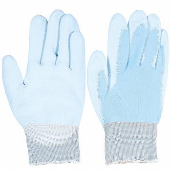 背抜き手袋おたふく手袋ピタハンドブルー[10双入]A-235ポリウレタン