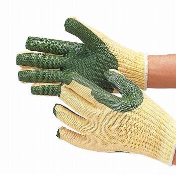 【ゴム張り手袋】ゴムバリミドリ背抜き手袋 [200双入] 品番:303 おたふく手袋 (作業用手袋) 背抜き 厚手 7ゲージ グリップ力 やわらかい フィットしやすい 低温でも硬くなりにくいグリップ力 天然ゴム