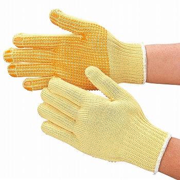 【耐切創手袋】 スーパーアラミド手袋(スベリ止付) 耐切創[100双入] 品番:809 おたふく手袋 (作業用手袋) 特殊用途作業 耐切創 アラミド繊維100% 切れにくい