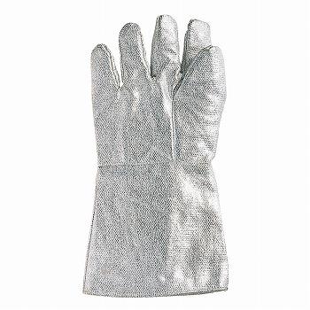 【耐熱手袋】D 耐熱アルミ手袋 5本指35cm [1双入] おたふく手袋 (作業用手袋) 特殊用途作業 耐熱 耐火 カイノール繊維(フェノール樹脂) アルミ蒸着