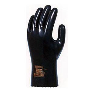 【ゴム手袋】ダイローブ3000 裏地付静電気対策用 [10双入] 品番:3000 (L・Lwサイズ) ダイローブ (作業用手袋) ビニール手袋 ポリウレタン手袋 裏布付 制電 導電繊維