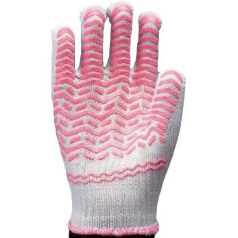 滑り止め軍手(ビニボツ)勝星産業ゴムライナー女性用[12双入]#004化学繊維薄手