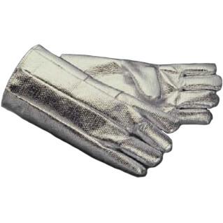 【耐輻射熱手袋】耐輻射熱手袋 ゼテックスアルミ被覆手袋 28cm 1双入 品番:特注品 ゼテックス (作業用手袋) 耐輻射熱手袋 特殊作業 シリカ繊維 アルミ皮膜加工