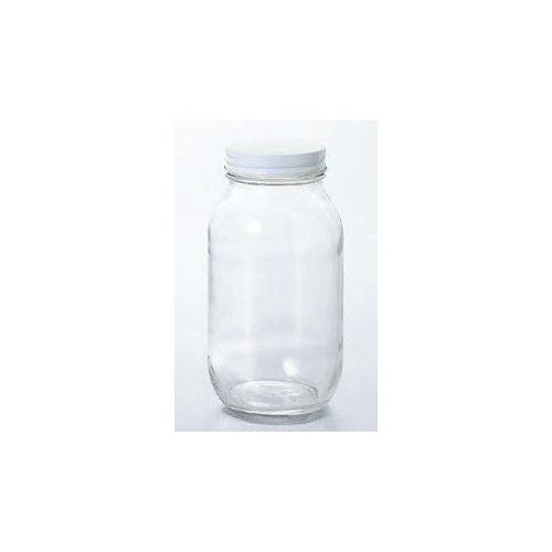 石塚硝子 アデリア 白キャップ保存びん900(20セット)品番:M-6465 【容器・キャニスター】 保存容器 ガラス ストッカー キャニスター ツイストキャップ ジャム瓶 瓶 調味料入れ 保存容器 ガラス キッチン用品