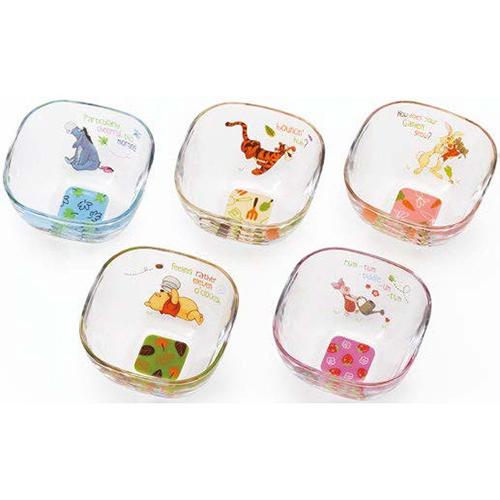 Disney ディズニー WINNIE THE POOH Pooh ボールセット(12セット)品番:S-5868 【皿・ボウル】 皿 セット 小鉢 食器 はち ボウル 食器 洋食器 ガラス食器 プーさん グッズ くまのプーさん ディズニー