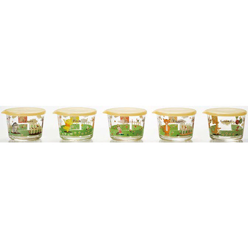 Disney ディズニー WINNIE THE POOH Pooh&Friendsキーパーセット(12セット)品番:S-5772 【容器・キャニスター】 保存容器 ガラス ストッカー キャニスター 調味料入れ 保存容器 ガラス キッチン用品 ディズニー くまのプーさん 食器 洋食器 ガラス食器