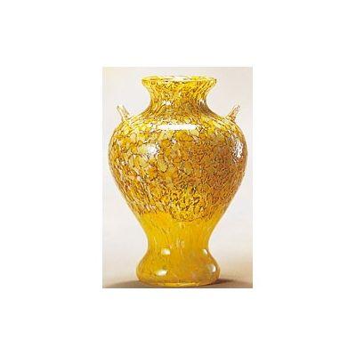 津軽びいどろ工房(白神山 黄葉) 花器(1個)品番:F-79640 【花器】 花瓶 ガラス ガラス 花器 ガラスベース フラワーベース 花びん インテリア フラワー 雑貨 花 ディスプレイ 置物 津軽びいどろ北洋硝子