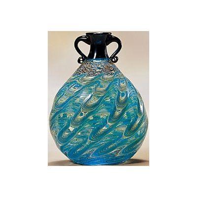 津軽びいどろ工房(津軽海峡) 花器(1個)品番:F-79643 【花器】 花瓶 ガラス ガラス 花器 ガラスベース フラワーベース 花びん インテリア フラワー 雑貨 花 ディスプレイ 置物 津軽びいどろ北洋硝子