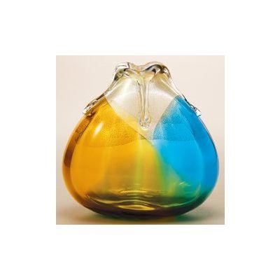 津軽びいどろ工房(金彩秋風) 花器(大 1個)品番:F-77308 【花器】 花瓶 ガラス ガラス 花器 ガラスベース フラワーベース 花びん インテリア フラワー 雑貨 花 ディスプレイ 置物 津軽びいどろ北洋硝子