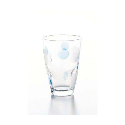 石塚硝子 アデリア 水玉ぐらす タンブラーM(BL 3セット)品番:9304  タンブラー グラス セット 食器 洋食器 ガラス食器 アデリア