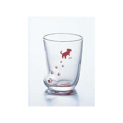 石塚硝子 アデリア 足あとグラス(S)いぬ(3セット)品番:6207  タンブラー グラス セット 食器 洋食器 ガラス食器 アデリア