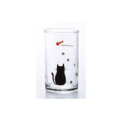 石塚硝子 アデリア 足あとグラス 足あとネコちゃんタンブラー(3セット)品番:1386  タンブラー グラス セット 食器 洋食器 ガラス食器 アデリア