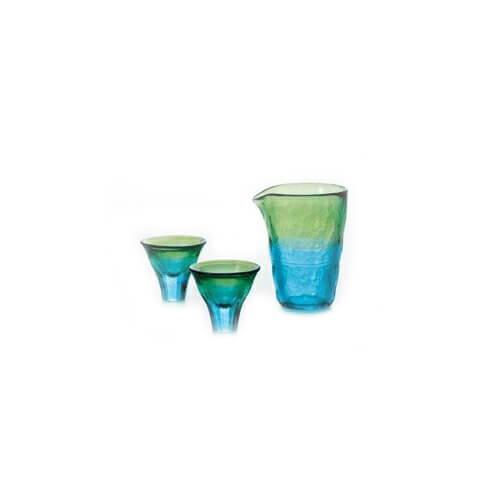 津軽びいどろ 酒器セット 2色(12セット)品番:FS-62589 【冷酒グラス】 冷酒グラス グラス 酒器 ガラス コップ 食器 グラス セット 冷酒グラスセット ガラスコップ 日本酒 吟醸 泡盛 津軽びいどろ北洋硝子