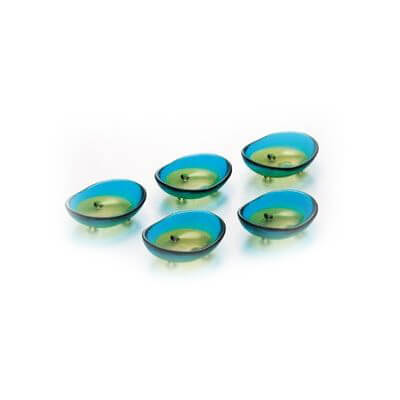 津軽びいどろ 二色 豆皿セット 2色(12セット)品番:FS-49518 【皿・ボウル】 小皿 セット 豆皿 器 取り皿 皿 プレート 皿 食器 和食器 ガラス食器 津軽びいどろ北洋硝子