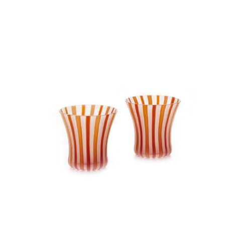 津軽びいどろ工房 線立ライン オールドペアセット RD(12セット)品番:FS-49522 【オールドグラス】 ロックグラス セット ウイスキー グラス オールドグラス 食器 洋食器 ガラス食器 津軽びいどろ北洋硝子
