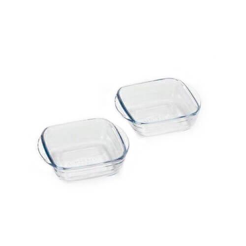 アルキュイジーヌ スクエアディッシュSSペアセット(12セット)品番:HS-609 【皿・ボウル】 耐熱ガラス オーブン料理 スクエア 耐熱容器 ボウル 皿 レンジ 調理器具 キッチン用品arcuisine