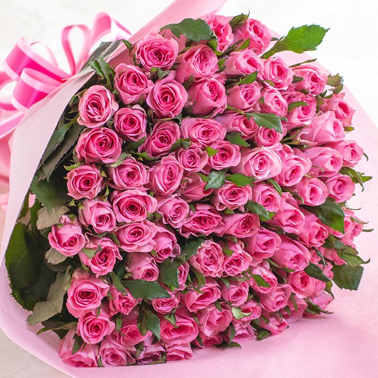 あす楽12時 入荷から2日以内の新鮮なバラだけを使用 品質管理認証と日保ち保証認証取得済み バラの花束 ピンク 好きな本数を選べます あす楽対応で12時まで当日発送します 土曜営業 誕生日 結婚記念日 バレンタイン 108本 50本 100本 格安 成人式 クリスマス 本数指定 デポー 60本
