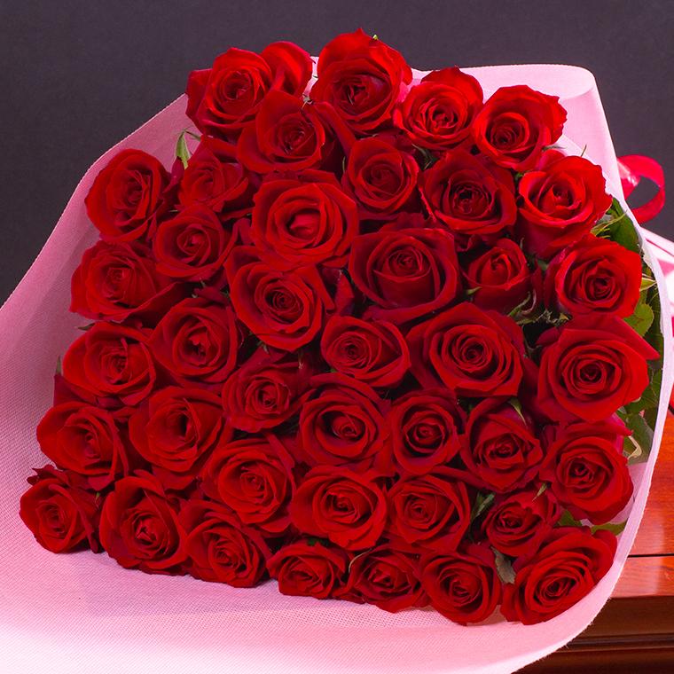 本数を選べる赤バラの花束 | 誕生日やお祝い、記念日に年齢分の本数でプレゼント | 赤 赤いバラ レッド 【50本 108本 100本 12本 母の日 父の日 薔薇 ギフト 歓送迎会 結婚祝い 還暦祝い プロポーズ クラシックバレエ 花 指定日 宅配 あす楽 土曜営業 即日発送】