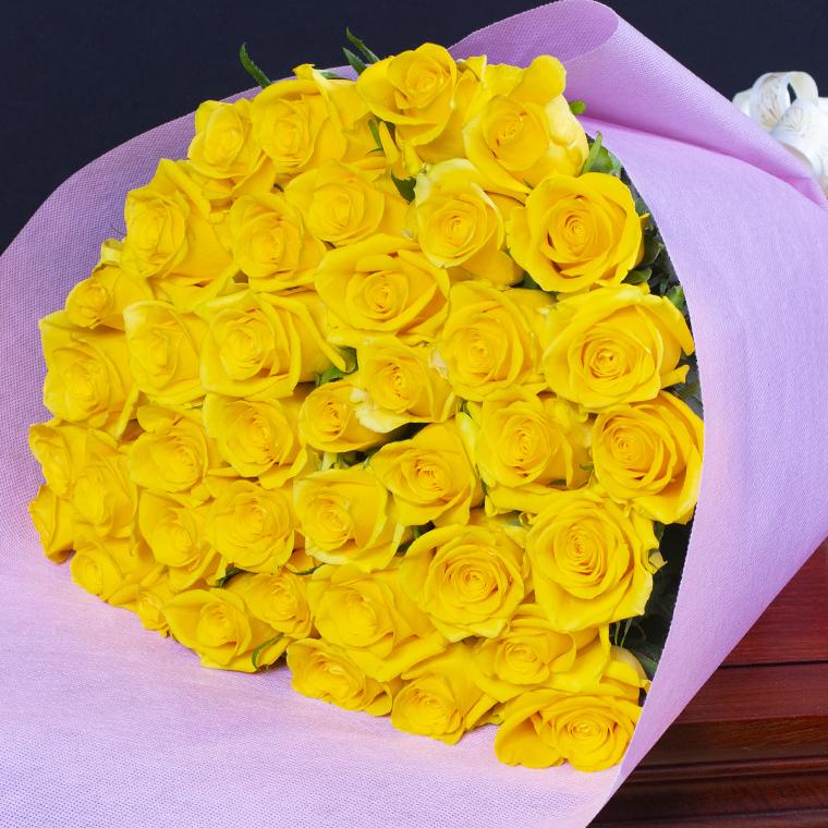 バラの花束 40本