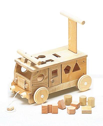 平和工業 W-029  森のパズルバス 日本製 手押し車