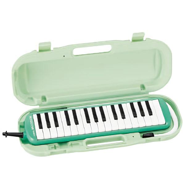 (お得な3台セット)鈴木 SUZUKI 鍵盤ハーモニカ 32鍵 メロディオン グリーン MXA-32G 楽器 [人気アイテム]