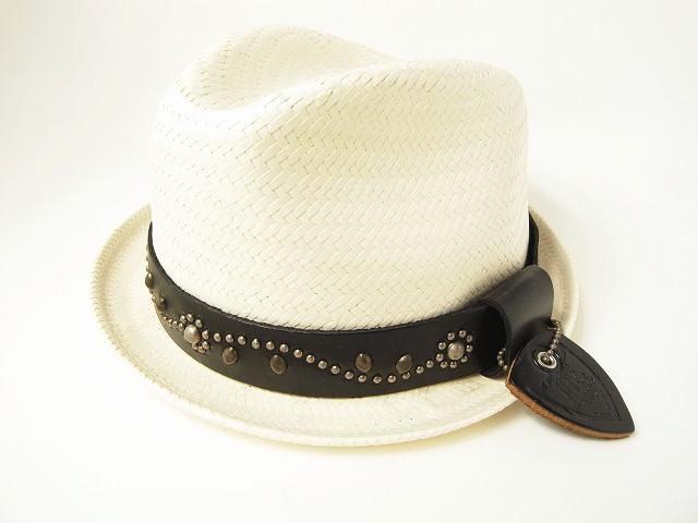 HTC×NY HAT[HTC×ニューヨークハット] #32 with MY MAN SAL HAT (WHITE) スタッズハット(オフホワイト)