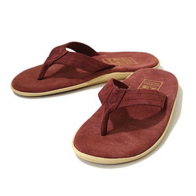 ISLAND Slipper [アイランドスリッパ]Leather SANDAL Thong PT203 (BURGUNDY/SUEDE) レザーサンダルトング(バーガンディ/スエード) AIS