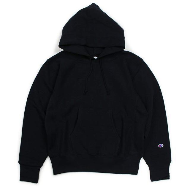 CHAMPION [チャンピオン] Reverse Weave Pullover Sweat Parka [Black] リバースウィーブプルオーバースウェットパーカー (ブラック) C3-W102