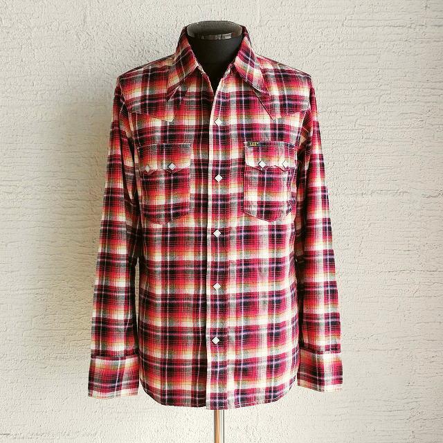 LEE×JOHN'S [リー×ジョンズ] NEL SHIRTS [RED] ネルシャツ (レッド) Lサイズ AHA