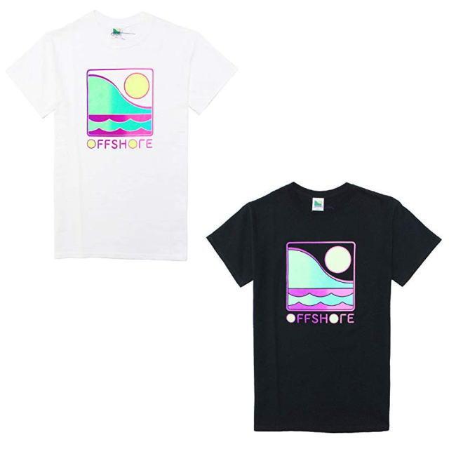 OFFSHORE [オフショア] GRADATION LOGO S/S TEE [WHITE,BLACK] グラデーションロゴショートスリーブTシャツ(ホワイト、ブラック)AIA