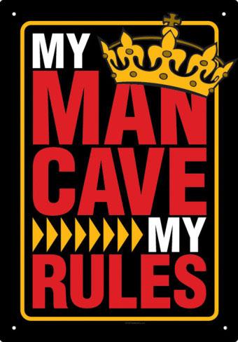 My Mancave rules☆俺の隠れ家ルール☆ブリキ看板☆【マンケイブルール】 【184SS10】