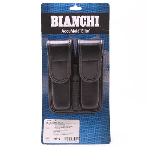 ビアンキ ダブルマガジンポーチ プレーン ブラック サイズ1(7902) 【BIANCHI】