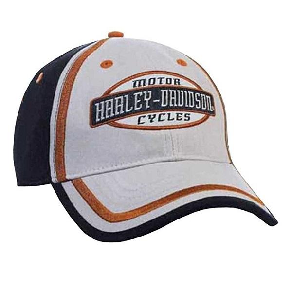 ハーレーダビッドソン【HARLEY DAVIDSON】メンズ 刺繍 HDスクリプト カラーブロックド ベースボールキャップ【バイク用品・アウトドア用品】