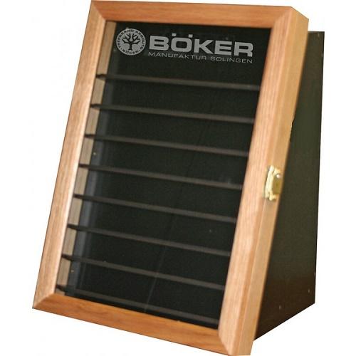 【ナイフケース】BOKER(ボーカー) ナイフディスプレイケース 前面8段、背面3段 鍵付き(Made in U.S.A)【アメリカ製】 【181SS20】
