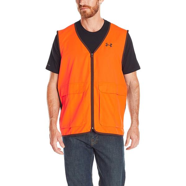 【アンダーアーマー】 【ベスト】 ハンターベスト オレンジ US Mサイズ (日本規格のL~XL相当) 【UNDER ARMOUR 狩猟 アウトドア】(1248016)